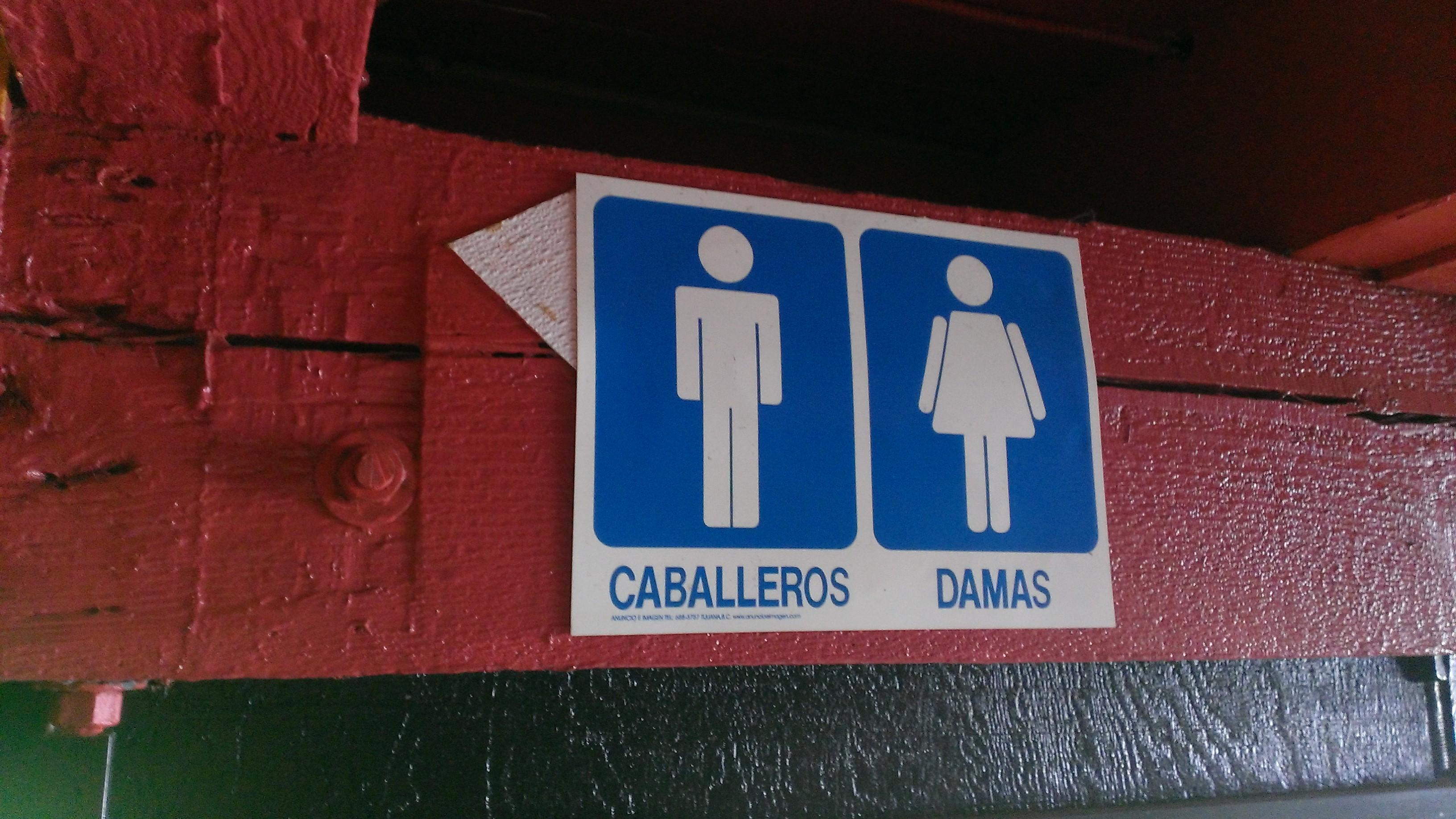 Bathroom Signs Spanish no public bathroom signs