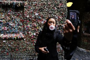 seattle's gum wall gets scrubbed